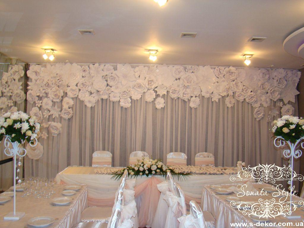 Оформление сцены свадьбы фото
